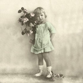 Tovaglioli di carta, girl with flower