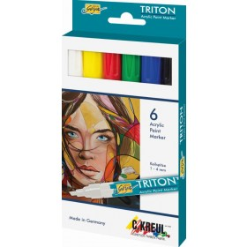 Acrylic Paint Marker, set 6 colori