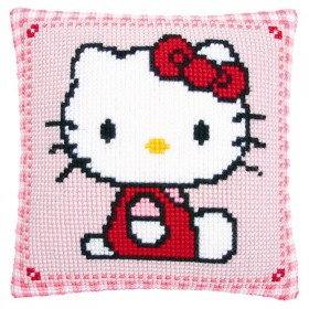 Cuscino punto croce hello kitty