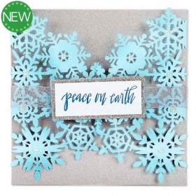 Fustella Thinlits snowflake card