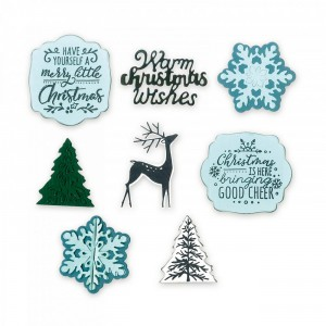 Fustella Framelits w/stamps 4pk-christmas is here