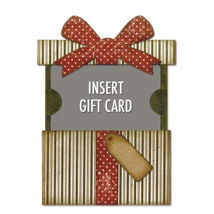 Fustelle Thinlits gift card package